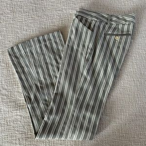 Theory cotton stripe dress trousers